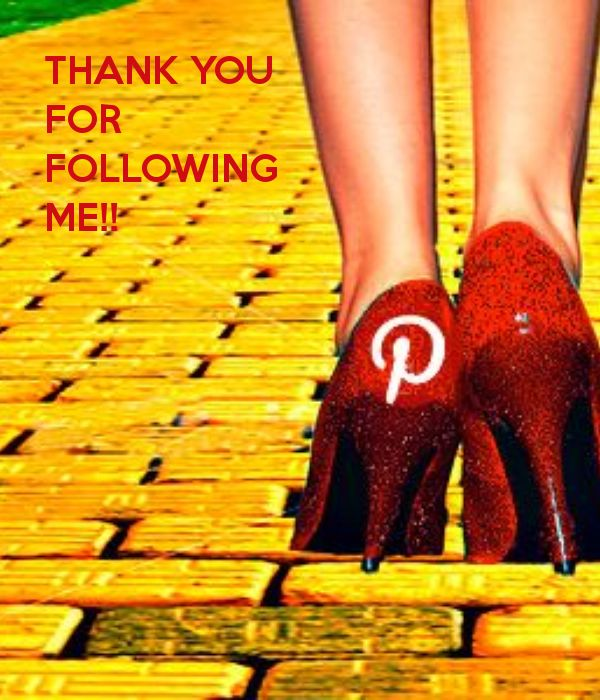 I know I've missed a lot of new people who have recently followed me but please PLEASE note that I AM VERY grateful for your following. It means a lot. The fact that you think my boards are that interesting to follow me is crazy! Please know I will keep all of you in my prayers AND THAT YOU'RE AWESOME AND WORTH IT!
