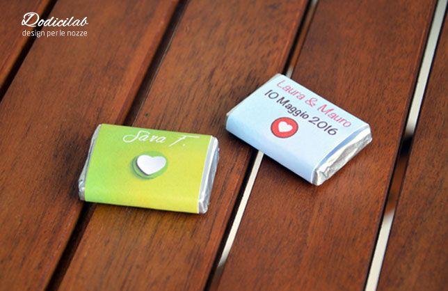 cioccolatini personalizzati da poter utilizzare come segnaposto originale il giorno del vostro matrimonio