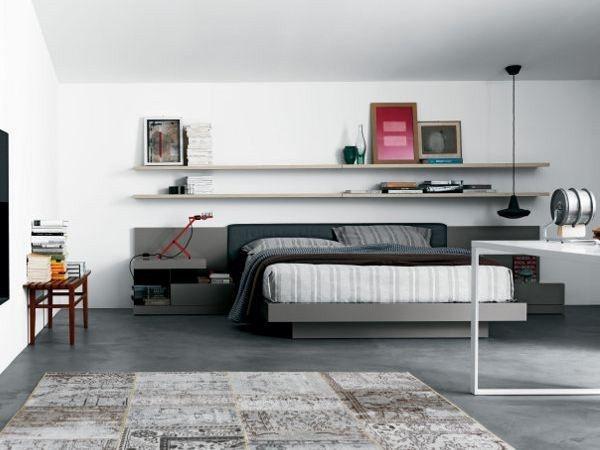 Double bed SYSTEM by Novamobili #homedecor #interiordesign