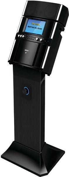 akai - professional karaoke system with speaker pedestal
