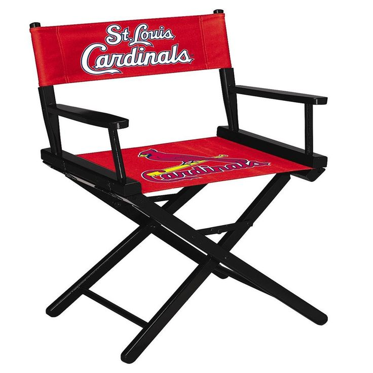 The St Louis Cardinals Table Height Directors Chair
