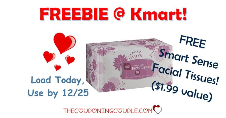 WOOHOO! A FREEBIE FROM KMART! Get a FREE Smart Sense Facial Tissues ecoupon! Load your coupon now!  Click the link below to get all of the details ► http://www.thecouponingcouple.com/kmart-friday-fix/ #Coupons #Couponing #CouponCommunity  Visit us at http://www.thecouponingcouple.com for more great posts!