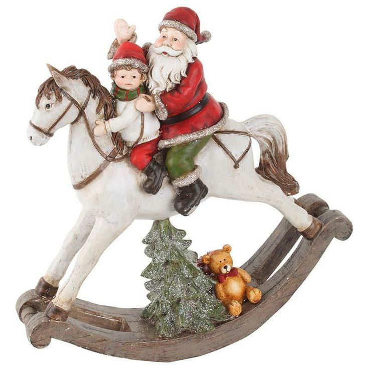 Santa with rocking horse! #christmas www.inart.com