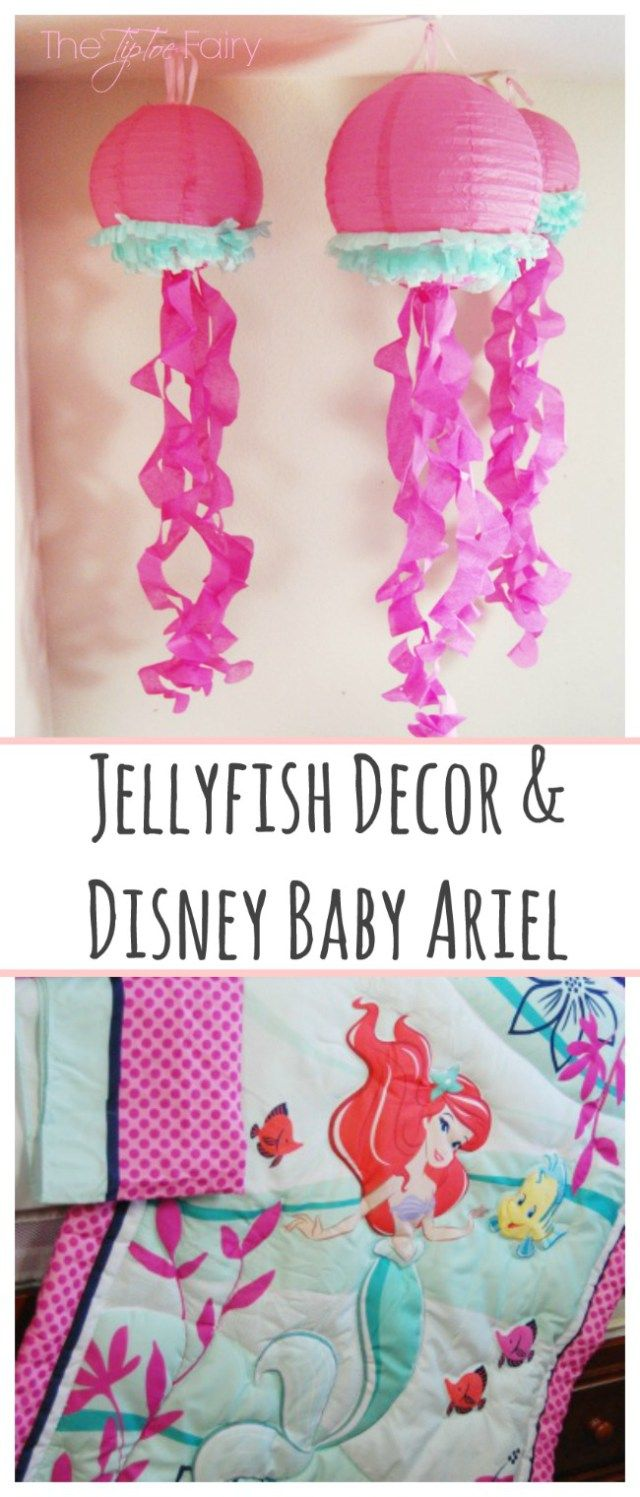 DIY Jellyfish Decorations With Disney Baby Ariel