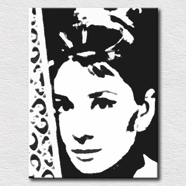>> Click to Buy << Modern canvas pop art oil paintings for bedroom wall decoration Audrey Hepburn wall pictures for friends gift #Affiliate