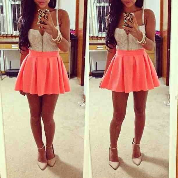 Teen Fashion Tumblr Skater Skirts Pinterest Ariana Grande Skirts And The Christmas