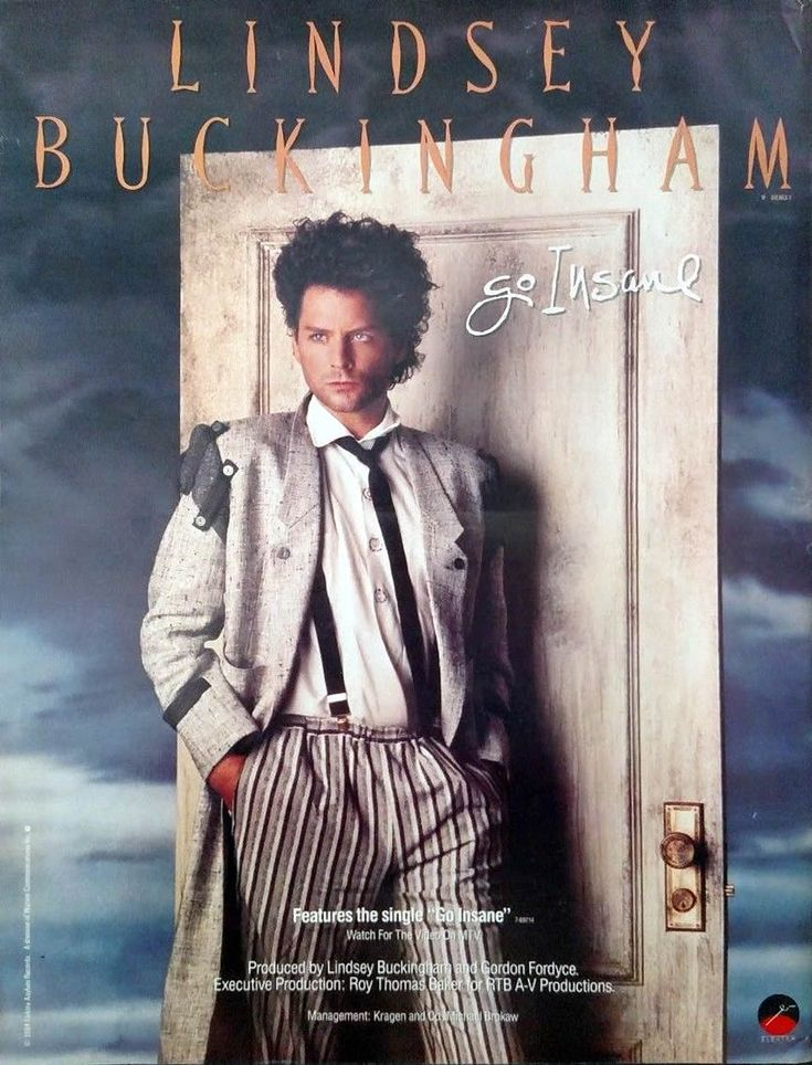 Go Insane Advert Still Going Insane . A Lindsey Buckingham Resource