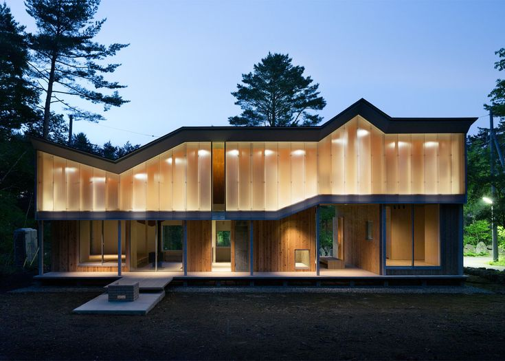 Mount Fuji house by Hiroki Tominaga Atelier has a unique angular roof that protects the home from heavy snow