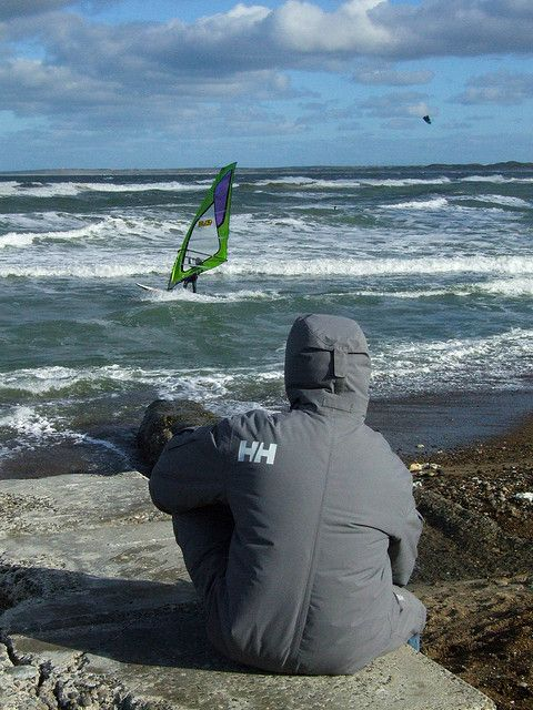 Wild winds of Jutland's west coast offer ideal conditions for  windsurfers and kitesurfers - and surfers at Cold Hawaii, Klitmøller, Denmark