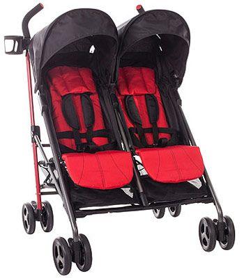 Babies R Us Zobo 2x Side By Side Stroller Cherry Side