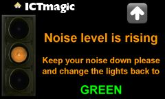 Lots of Interactive classroom management goodies at this site, like the Interactive noise level control for the classroom-Fun:)