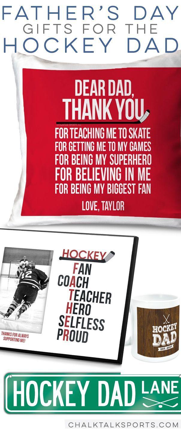 Hockey Dad Father's Day gift ideas! #hockey