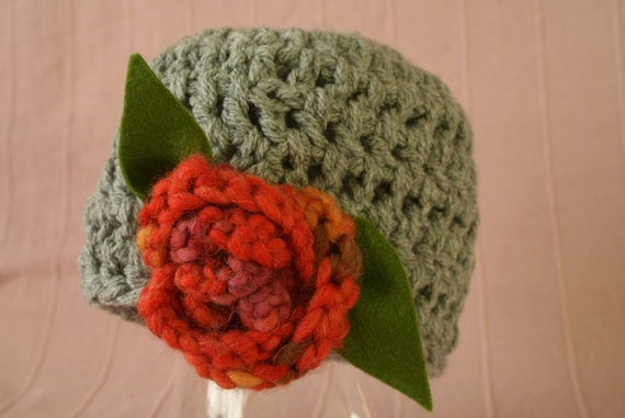 crochet  beanie for girl 4-7y by MadameBonneterie on Etsy, €10.00