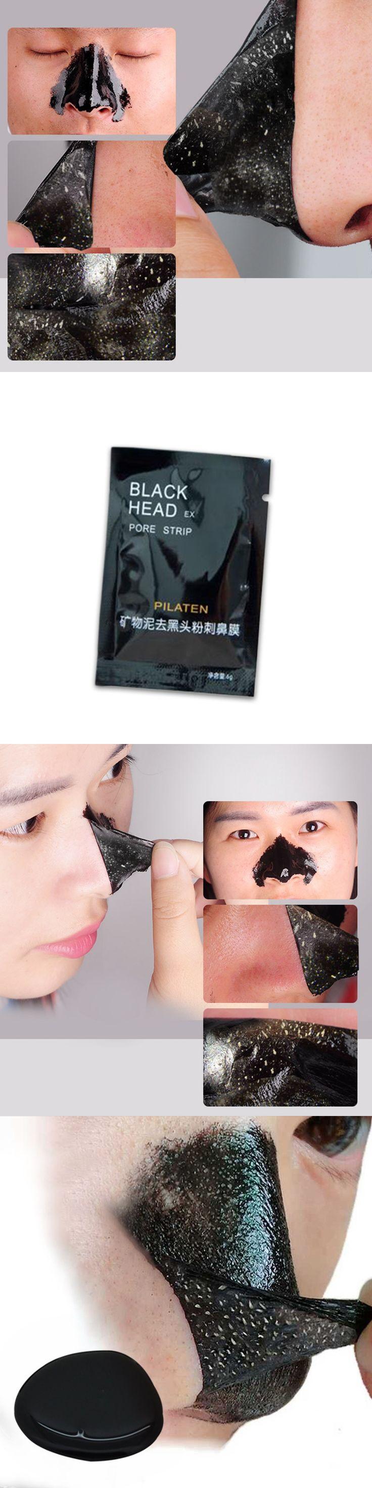 Pilaten brand blackhead remover T district nursing black mud to blackhead nose mask black head black mask Pore Strip make up