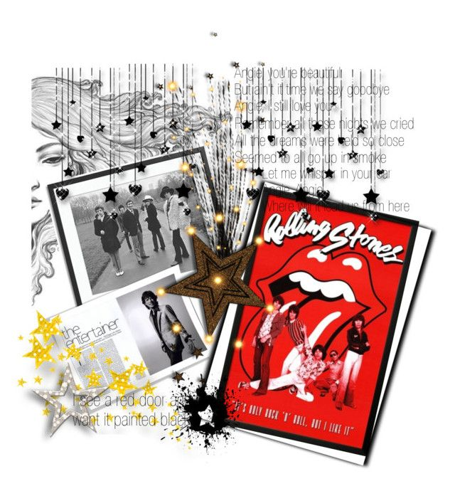 """""""Mick Jagger🌟💋🌟Rollin Stones"""" by tmcintyre on Polyvore featuring art"""