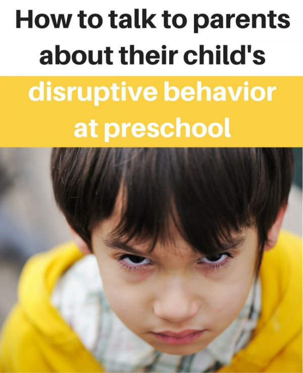 Tips for teaching preschool. How to talk to parents about their child's behavior without them getting defensive.