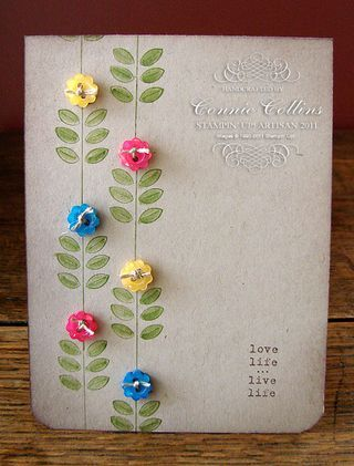 so simple, yet stunning.Cards Ideas, Handmade Cards, Crumb Cake, Madison Avenue, Flower Buttons, Buttons Flower, Flower Cards, Buttons Cards, Stampin Up Cards