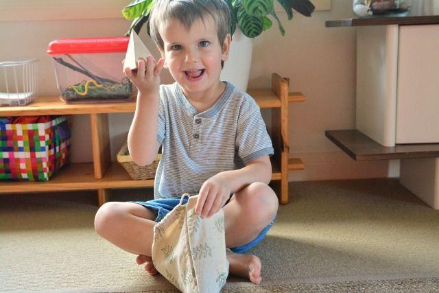 Five Minute Montessori - Missing Object Game Otis How we Montessori June 2015