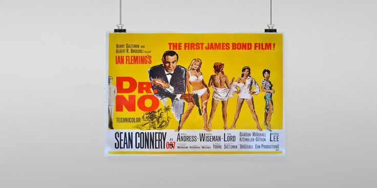 Dr No Sean Connery Movie Poster Reproduction by FoxyNFoxyVintage