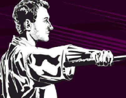 "Check out new work on my @Behance portfolio: ""Kenjutsu"" http://on.be.net/1OJ7ZJJ  #Kenjutsu #vector #vectorart #illustration #adobe #blackandwhite #art #digitalart #martialarts #purple"