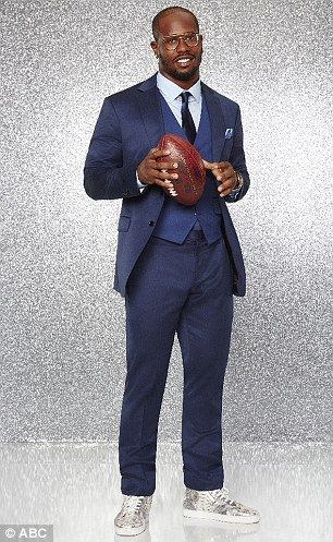 Sports stars: Rivals Von Miller (L) and Antonio Brown are two more footballers who are part of the cast