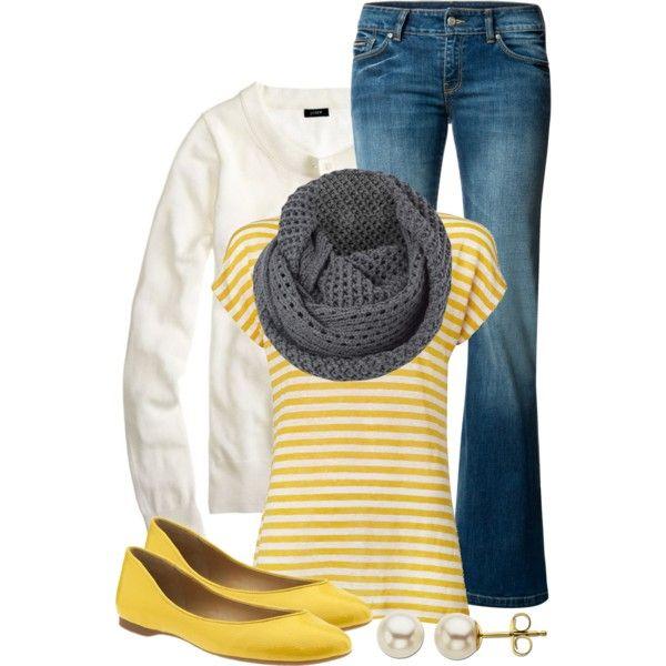Yellow & Gray - Polyvore