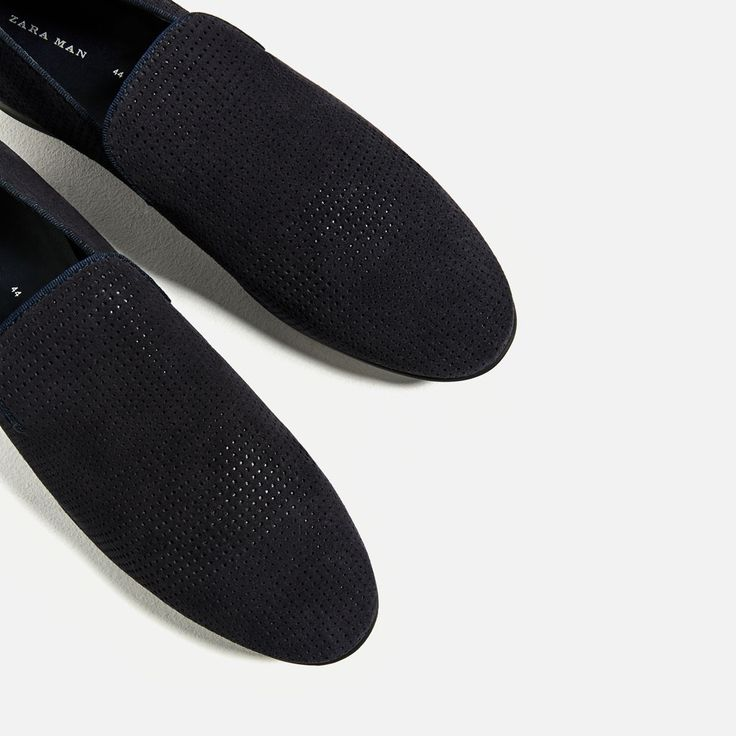 MICRO-PERFORATED LEATHER LOAFERS-Leather-SHOES-MAN | ZARA United Kingdom