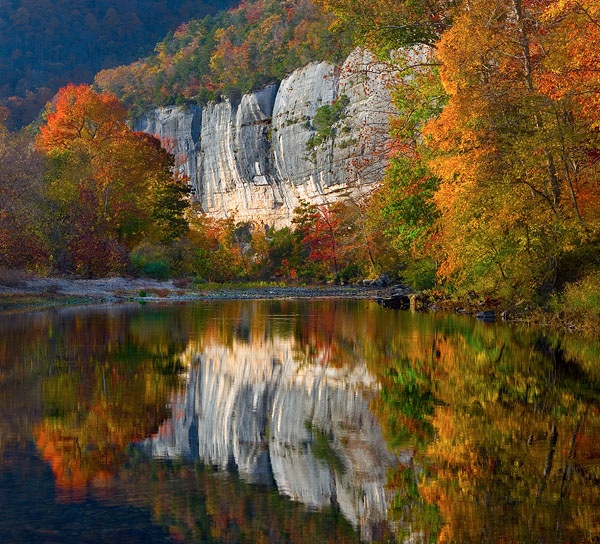 Roark Bluff and the Buffalo River, Arkansas