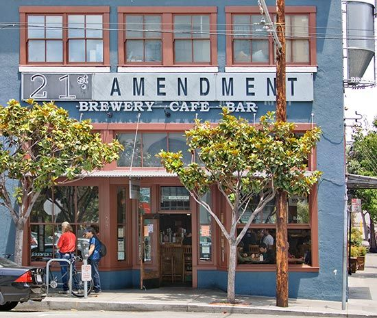 21st Amendment Brewery in San Francisco, California. Tiny little place, some great beers.