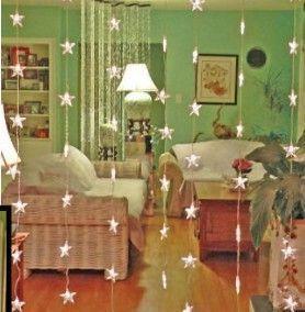 Sternenlichtvorhang ~ Raumteiler oder Fenster ~ Echtes Licht! | Shop | Kaboodle …   – Bambus Ideen