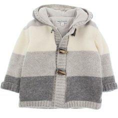 Baby Graziella Boys Grey Wool Stripe Duffle Cardigan [] #<br/> # #Baby #Knitting,<br/> # #Baby #Knits,<br/> # #Cardigans,<br/> # #Layette,<br/> # #Bulletproof #Vest,<br/> # #Jacket,<br/> # #Tissue,<br/> # #Knitting<br/>