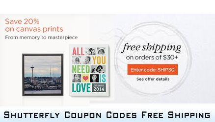 use Shutterfly Coupon Codes Free Shipping to save? Simply by entering a coupon code during checking out and make payment that you can easily...