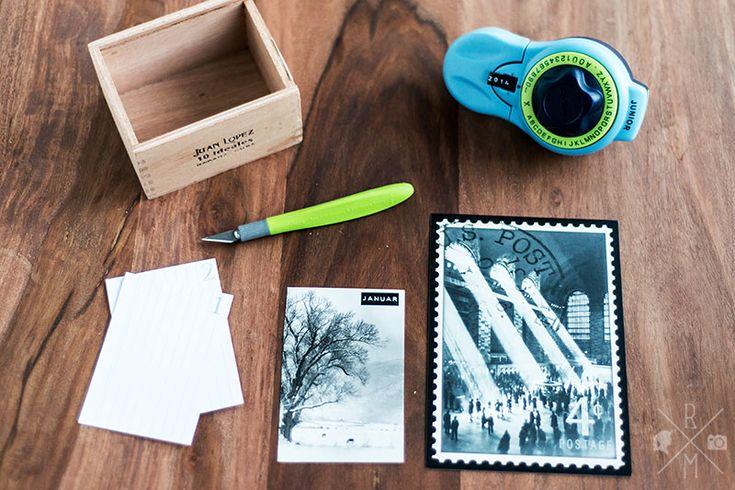 DIY :: Zigarrenkisten Upcycling als Kalender mit Karteikarten | relleomein.de #diy #zigarrenkiste