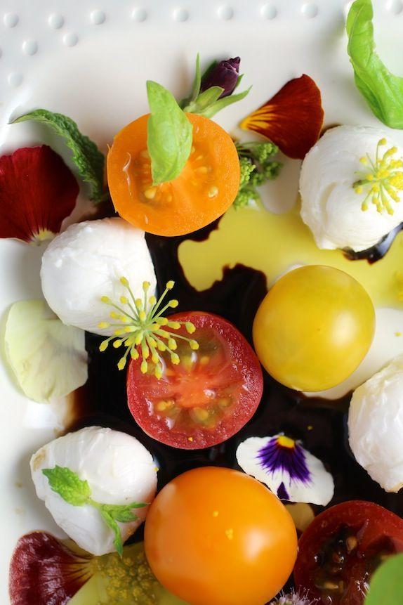"""a pretty little bite of summer"" #tomatoes #summerfest"