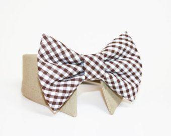 Karierte Hund Fliege-Hemd und Fliege Kragen-Hochzeit Hund Krawatte - braun karierte