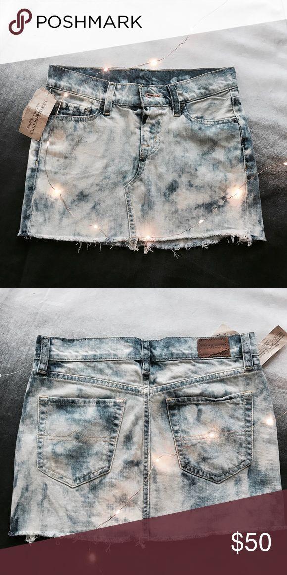 NWT Denim Supply Distressed Jean Skirt NWT Bleach wash distressed jean mini skirt very cute Denim & Supply Ralph Lauren Skirts Mini
