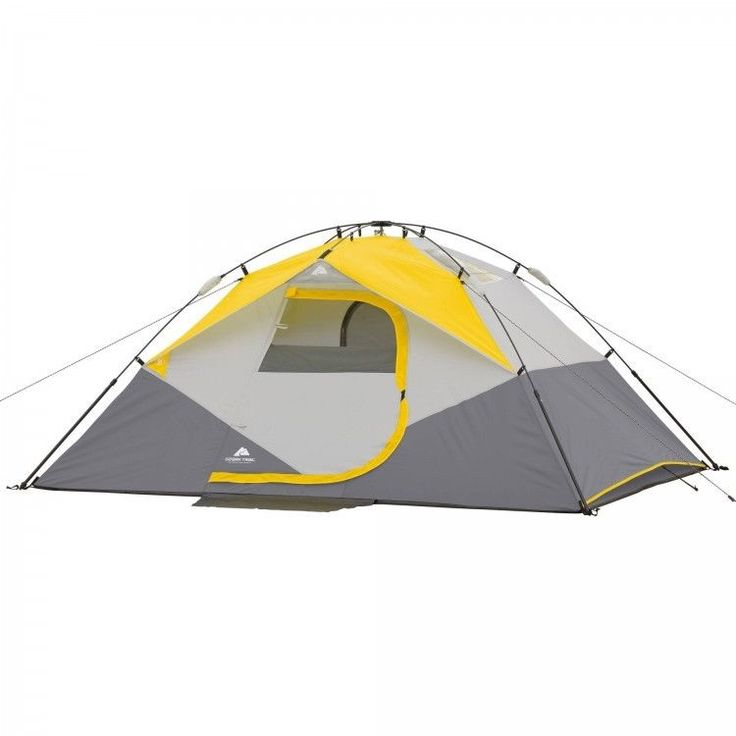 Family Camping Tent Outdoors Fishing Picnic Canopy 4 Person Man Dome Hiking Grey #FamilyCampingTent #Dome