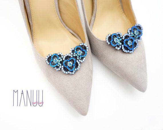 Shoe jewelry shoe clips Manuu bridal shoe clips by ManuuDesigns
