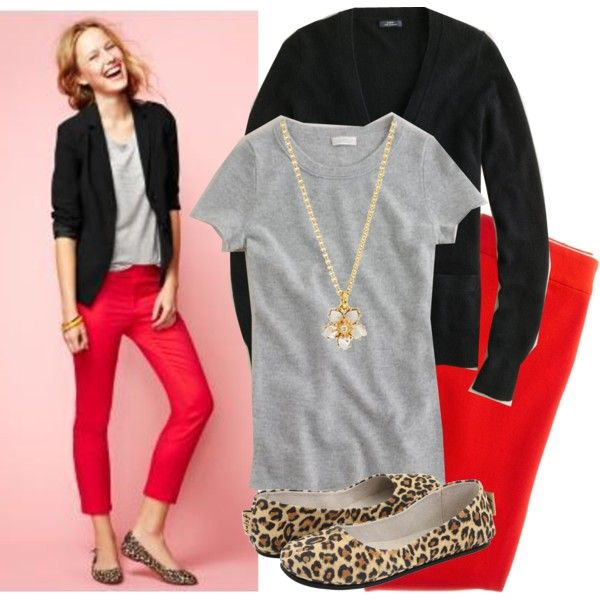 Beautiful Outfit With Red PantsChic Outfit Colors Jeans Blazers Outfit Red