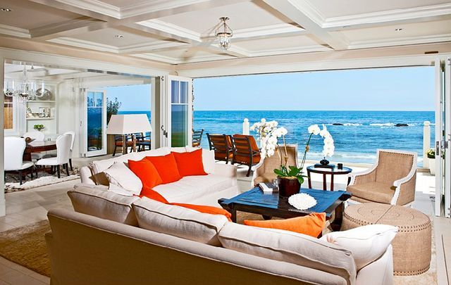 beach house is located in the exclusive gated Malibu Colony