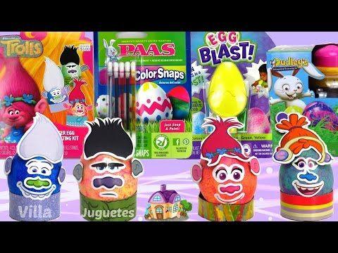 (995) Decorando y Pintando Huevos de Pascua con Trolls, Rotador, Soplador y Más - YouTube