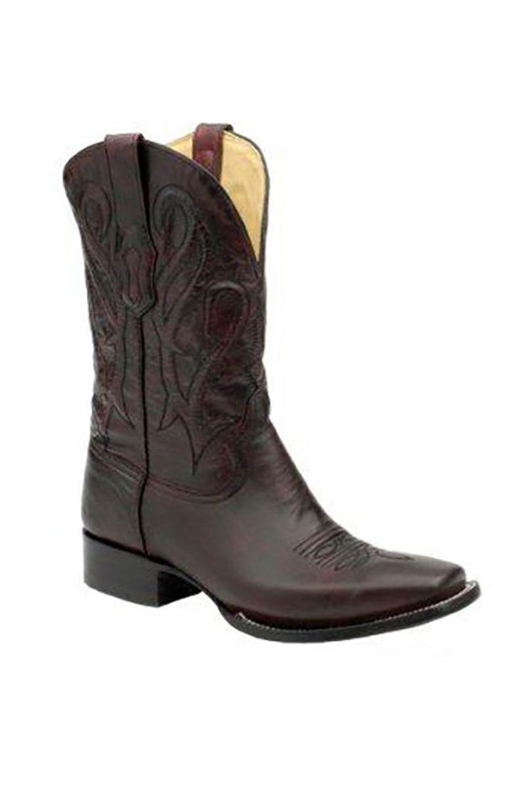 Corral Men's Cord Stitch Black Cherry Cowboy Boots