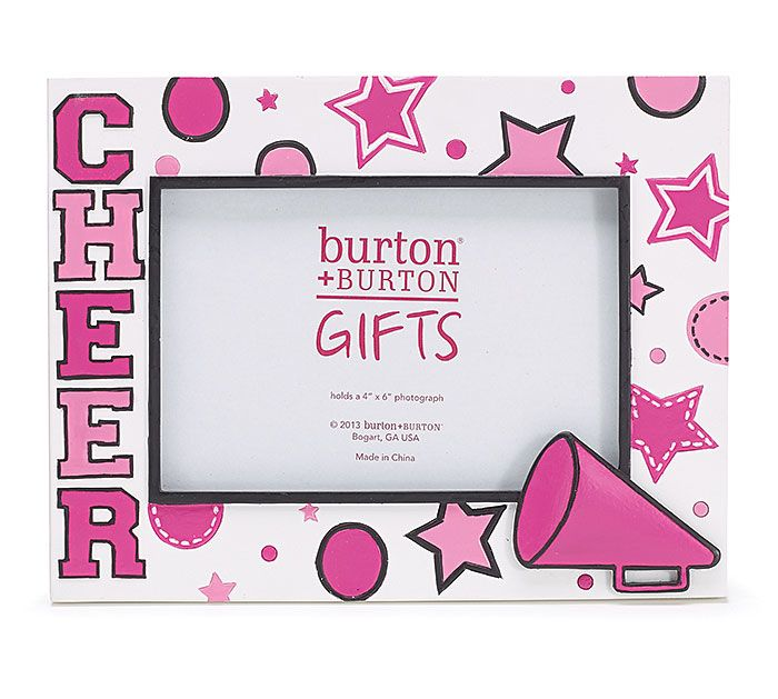 CHEER on the team and capture the memories that last a lifetime with this frame from #burtonandburton! #frame #cheerleader #gifts