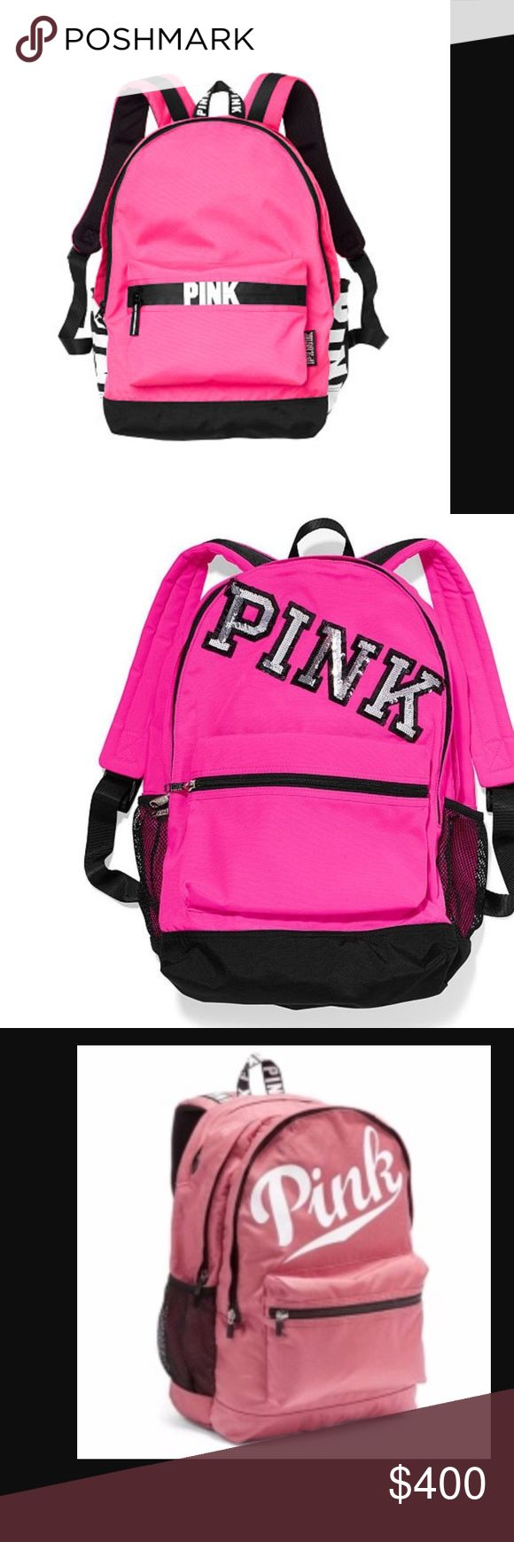 **ISO**Vs PINK Backpack (needs to be a pink color) Hi everyone, I hope my fellow Poshers can help me with this ISO! My niece is DESPERATE to own a backpack resembling these photos. I can't spend a TON of money, so I'd love it if someone would trade for it or sell it for a reasonable price. Thanks in advance! PINK Victoria's Secret Bags Backpacks