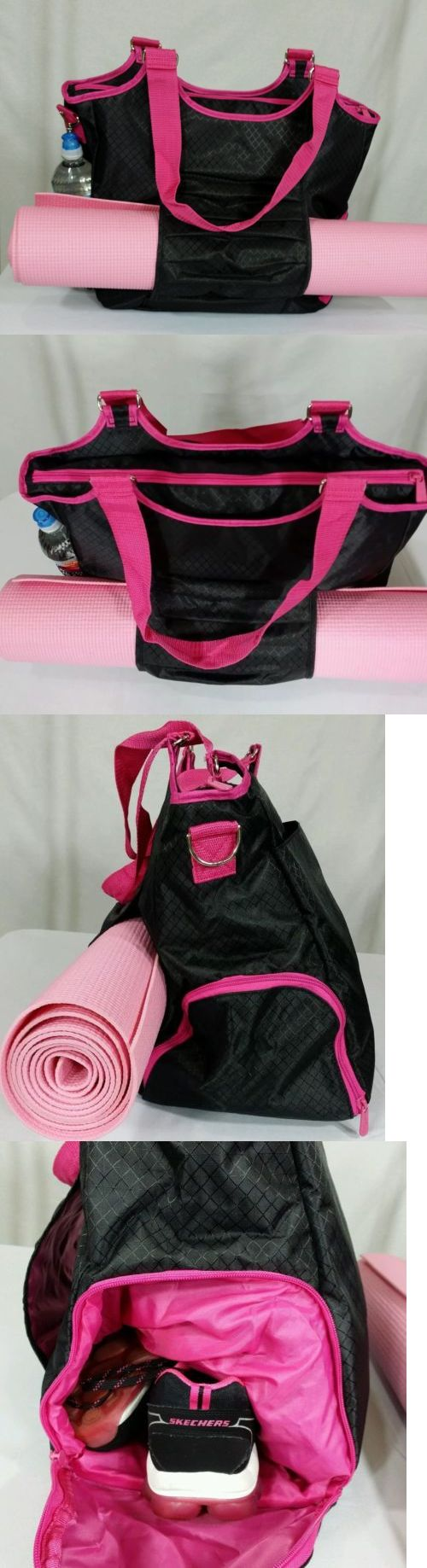 Gym Bags 68816: New Thirty-One 31 All Pro Tote Sports Gym Yoga Diaper Bag Black W Pink Free Ship -> BUY IT NOW ONLY: $56.25 on eBay!