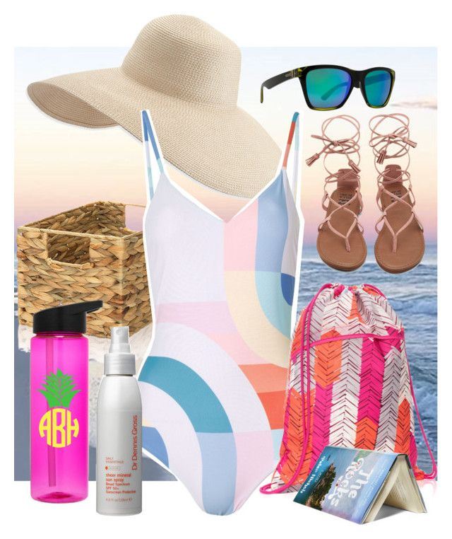 """""""A Day at the Beach"""" by dundiddit on Polyvore featuring Eric Javits, Mara Hoffman, Dr. Dennis Gross Skincare, VonZipper, thirtyonegifts and contestentry"""