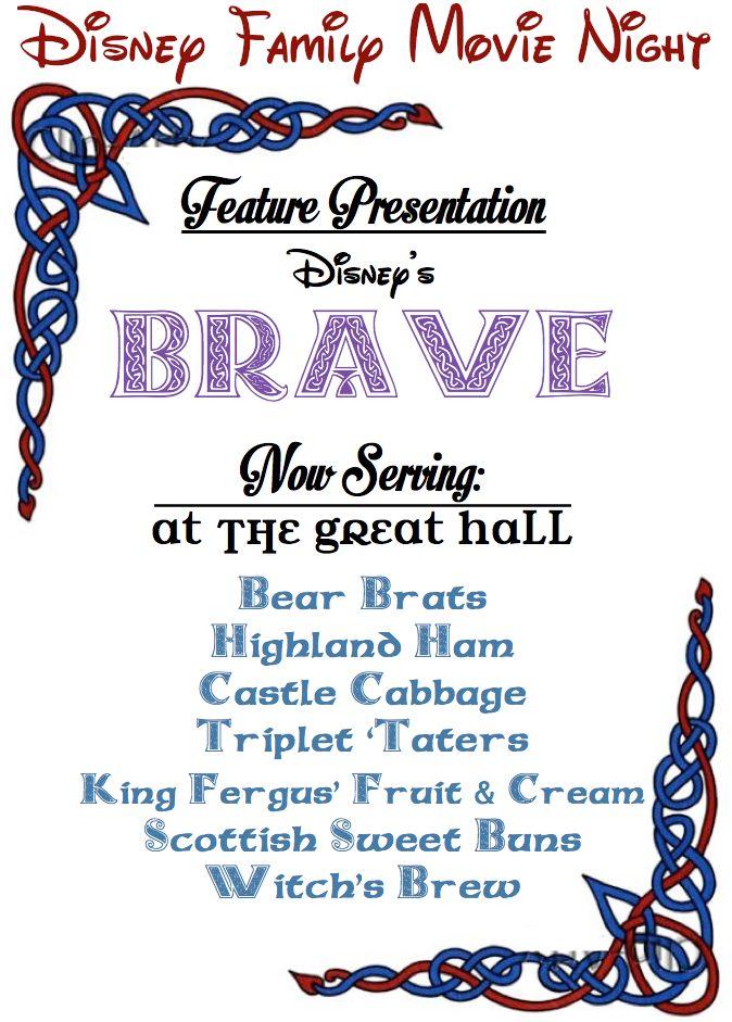 .: His frugal Servant :.: Disney Family Movie Night: Brave