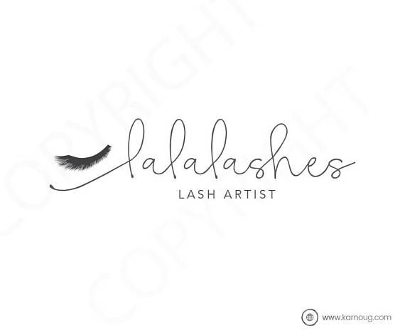 Lash Artist Logo Eyelash Logo Makeup Artist Logo Premade