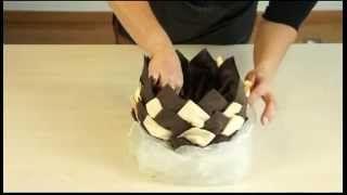 pliage de serviette en papier 2 couleurs forme ananas - YouTube