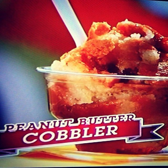 The Peanut Butter Cobbler was featured in Carnival Eats on the Cooking Channel!!!